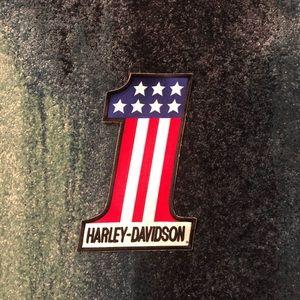 Vintage BIG Harley Davidson embroidered patch USA